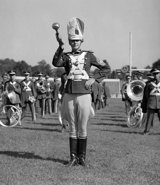 Irvin Bentzen, Drum Major 1936