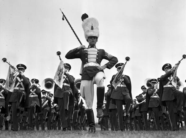 Bert Fenn, Drum Major 1937-1940  Photo: 1939