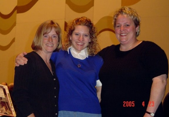 Above: Heather Cramer Reu, Aimee Hoover Page And Debbie Cardwell Peterson At Ray Cramer's Retirement Celebration In April 2005 (picture Courtesy Of Aimee Page).