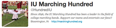 Marching Hundred on Twitter